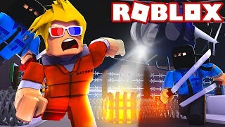 NINJA POLICE OFFICER ARRESTS PRISONERS - GO BACK TO JAIL - ROBLOX JAILBREAK!!