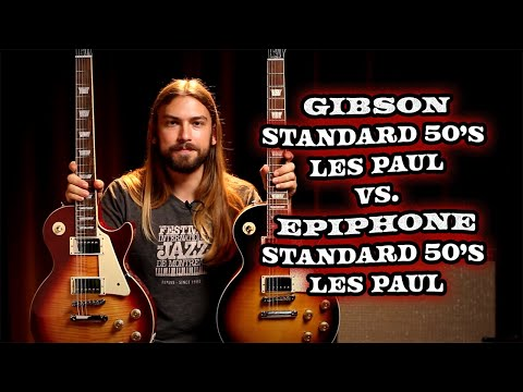 Gibson Standard 50's Les Paul vs. Epiphone Standard 50's Les Paul | Can You Tell the Difference?