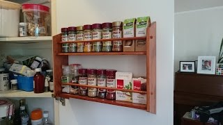 A simple spice rack to help organise the pantry and make some space by mounting it to the door. Subscribe to my channel: https://