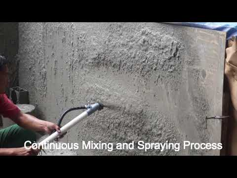 MS 100 Plastering Pump Mixing And Spraying Acme Equipment