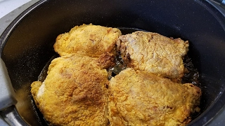 Spicy Fried Chicken. Man you guys this was so good! I did cook it for about 30 minutes cause these were thick friggin thighs. The spice was perfect if you like ...