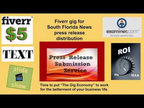 Press Release Distribution - Ft. Lauderdale Examiner