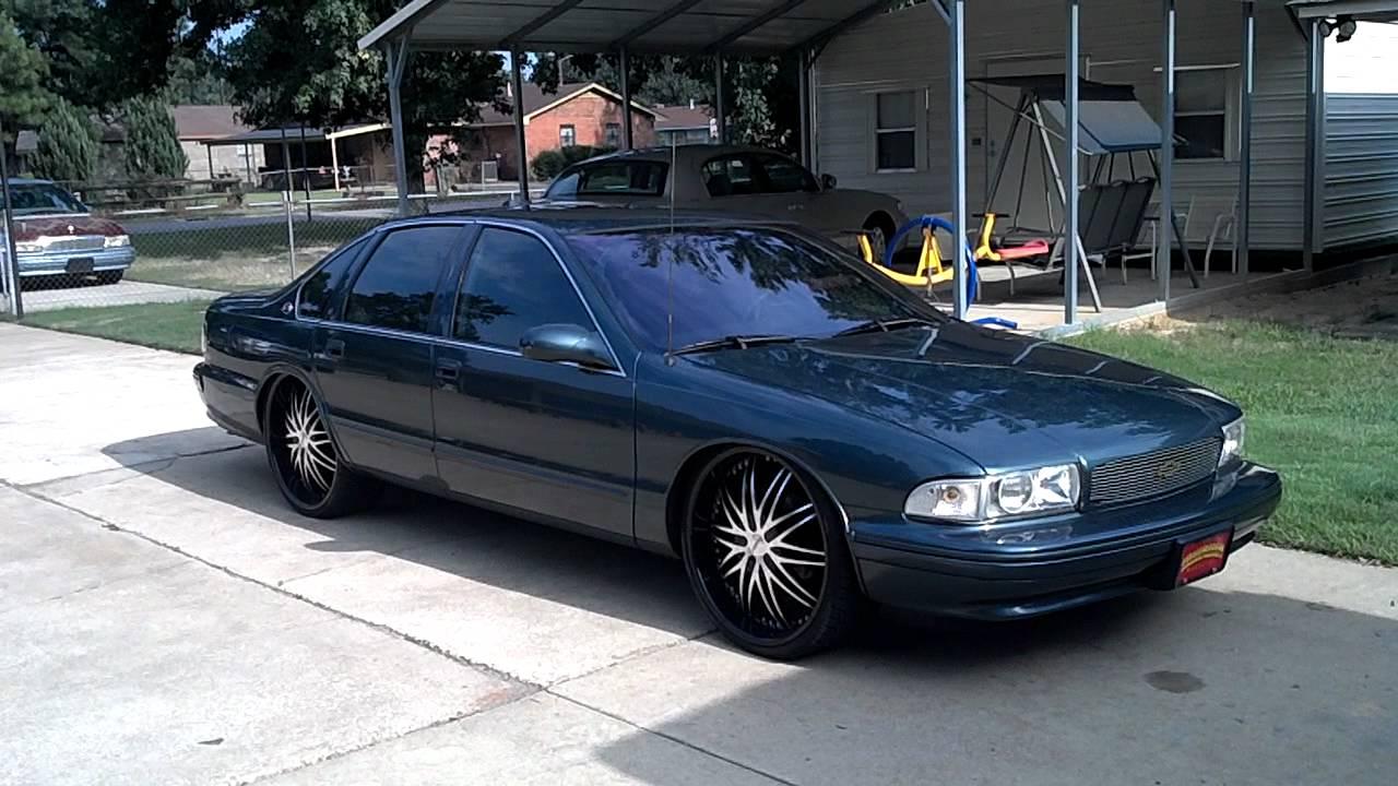 2011 Impala On 24s >> 96 impala bagged on 24s - YouTube