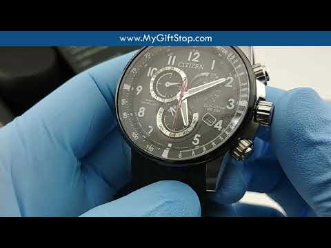 Citizen AT4138-05E Perpetual Chrono A-T Men's Eco-Drive Black Dial Watch Video