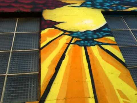 "San Diego High School/UCSD Respiratory Care - ""SORROW VS. STRENGTH"" Anti-Smoking Mural."