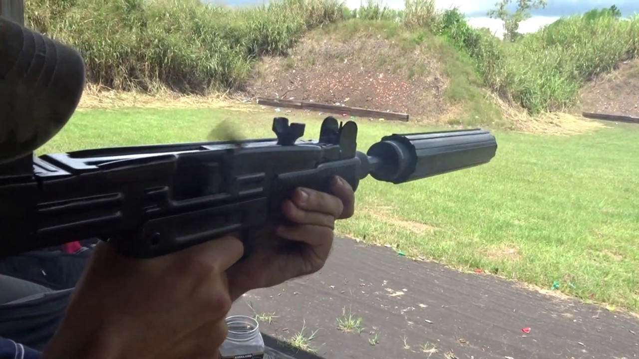 Uzi 9mm full auto with Coastal M I M S suppressor