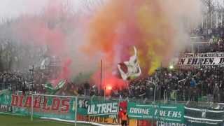 BSG Chemie Leipzig - Chemnitzer FC Sachsenpokal Pyrotechnik