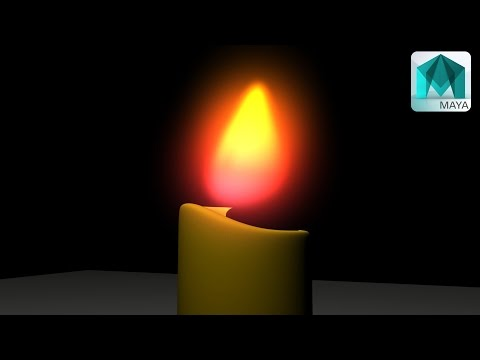 How to create and animate a Cartoon Candle in Maya 2016