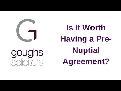 Is it worth having a pre nuptial agreement?