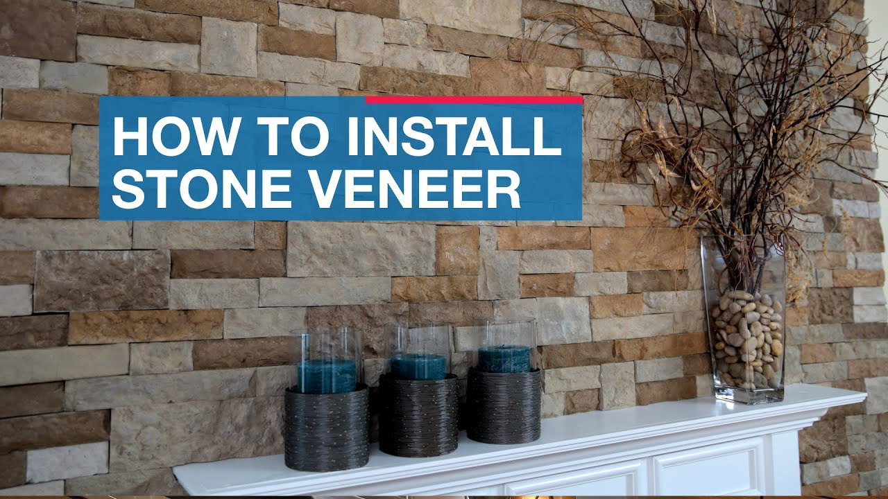 Stone veneer over brick foundation faux stone fireplace for How to install stone veneer over exterior brick