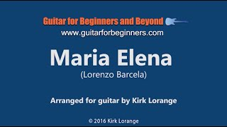 Maria Elena - A Fingerstyle Guitar Lesson showing the Virtual Fretboard.