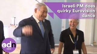 Israeli Prime Minister does quirky Eurovision dance