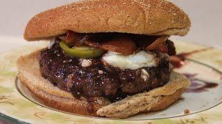 Blueberry White Pepper Goat Cheese Burger Recipe