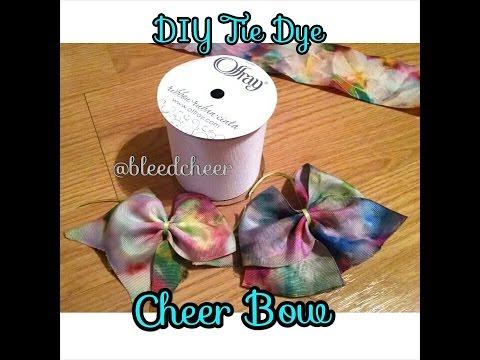 DIY Sharpie Tie Dye Cheer Bow