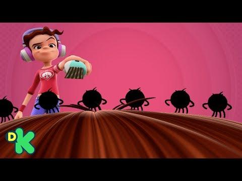 Sigue la letra de El Twist de los Piojos   Mini Beats Power Rockers   Discovery Kids