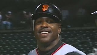 Bonds homers three times against Braves