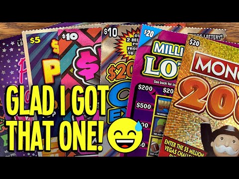 GLAD I GOT THAT ONE! 😅 $120/TICKETS 💰 Monopoly + Million Dollar Loteria! 💵 TX Lottery Scratch Offs