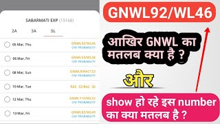 GNWL/WL meaning in hindi/means of railway waiting list/by Tech Boy