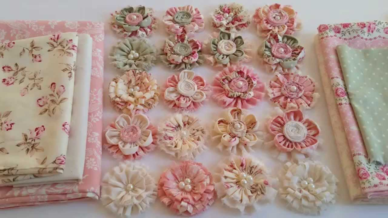 Gorgeous Shabby Chic Fabric Flowers YouTube