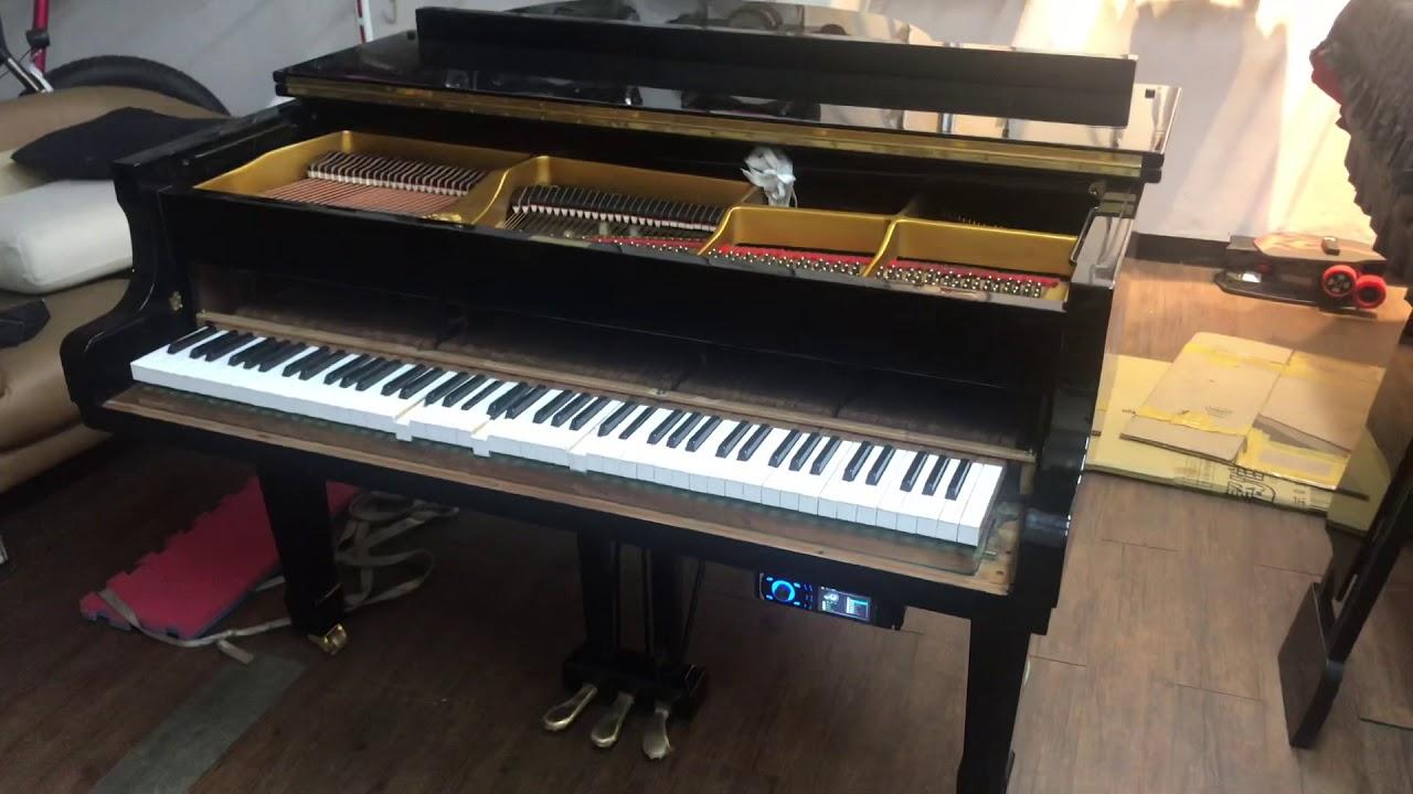 自動演奏鋼琴系統加裝-示範演奏(七里香)漢麟樂器02-82922521 - YouTube