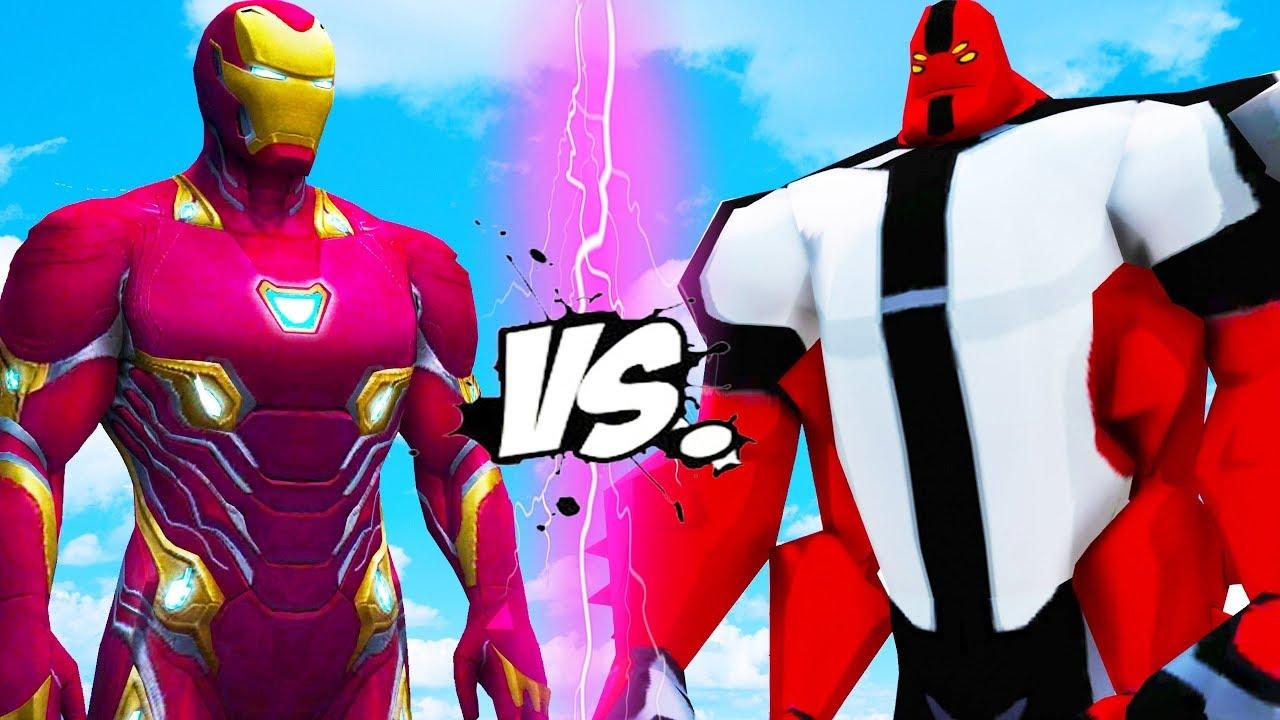 Iron Man Vs Four Arms Ben 10 Epic Battle Youtube