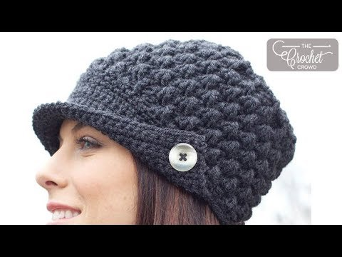 Crochet Womens Peak Cap Hat Youtube