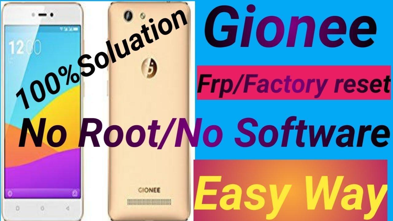Gionee f103 pro /FRP/ GOOGLE ACCOUNT/Password/Pattern Unlock /no root/no  software//