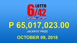 PCSO Lotto 6/42 Result October 9, 2018 - Lotto Results Today