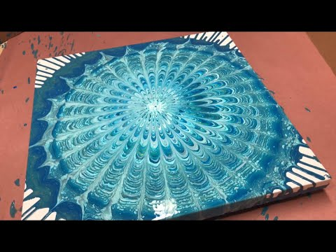 Fluid Painting Acrylic Dirty Pour ORGANIC MANDALA! Wigglz Art Easy Beginners Technique Please Share!