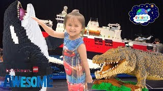 GIANT LEGO Brickman Awesome Sydney Family Fun Children Activities Kids video Evren ToysReview