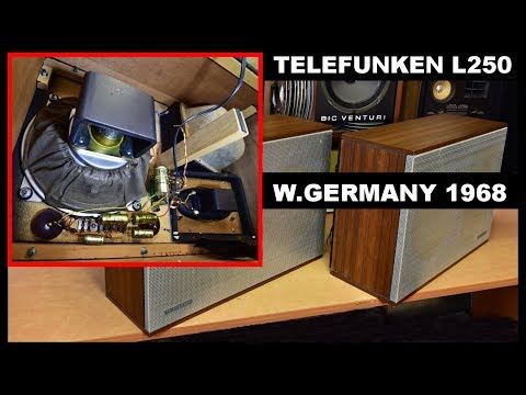 Telefunken Hi-Fi Klangbox L250 Acusta Lautsprecherboxen What's Inside? top vintage Alnico Speakers