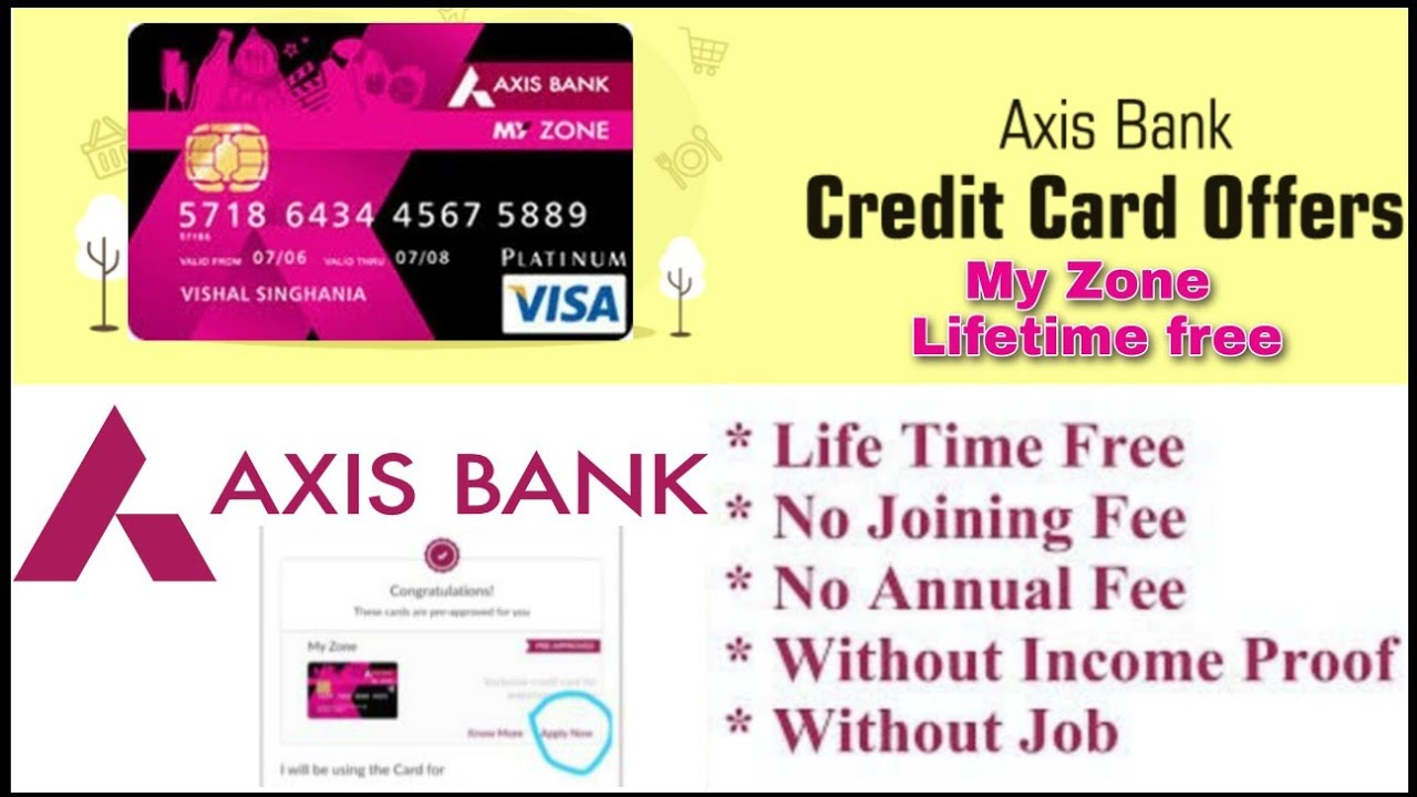 axis bank lifetime free credit card apply online