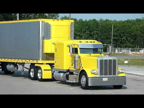 Yellow Peterbilt And Reefer Thermo King Yellow - Show Of Truck And Trailer