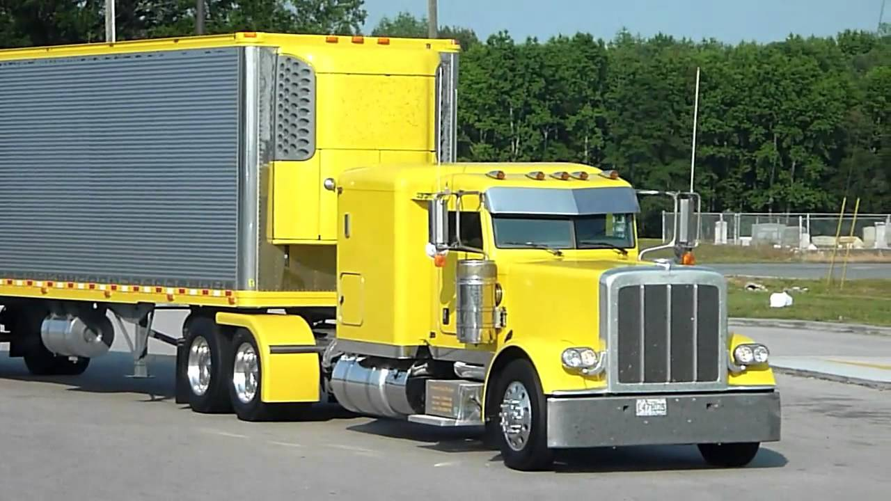 Yellow Peterbilt And Reefer Thermo King Yellow Show Of
