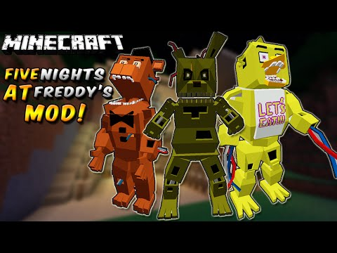 Minecraft: FIVE NIGHTS AT FREDDY'S 3 MOD (NUNCA VAS A ESCAPAR... MUAHAHA!) - ESPAÑOL TUTORIAL