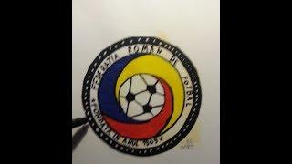 Drawing romanian football logo