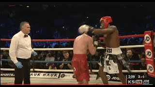 KSI VS JOE WELLER FULL MATCH! (KSI KNOCKS OUT JOE WELLER)