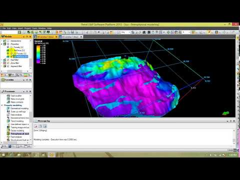 3D Petrophysical Modelling Using Petrel 2013
