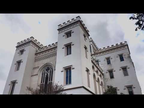 Old Louisiana State Capitol In Baton Rouge, Louisiana, U.S.A In 4K