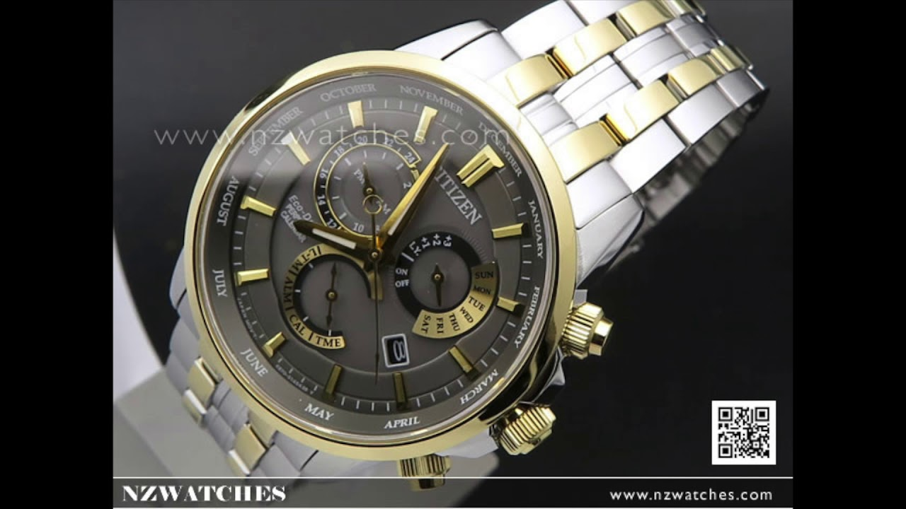 62cf56bff47b5b Citizen Eco-Drive Perpetual Sapphire Two Tone Mens Watch BL8144-89H.  NZwatches