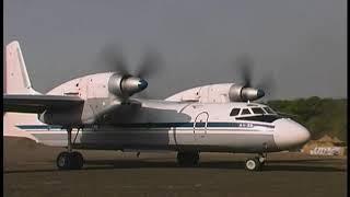 Взлет АН-32 с короткой полосы