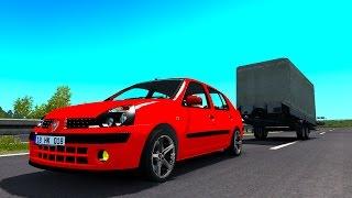 ETS2 Renault Clío / Nissan Platina con trailer! Viaje mapa Promods Euro Truck Simulator 2