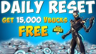 HOW TO GET 15000 FREE VBUCKS - Fortnite Daily Reset New Items in Item Shop