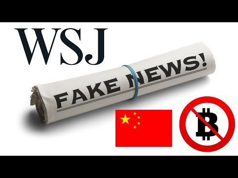 WSJ Slams Bitcoin With Fake China News; Huge Buying Opportunity