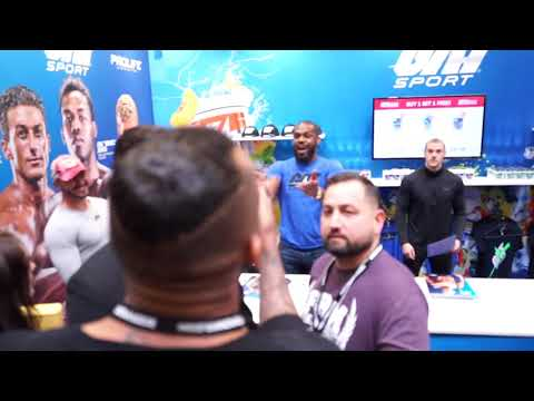 Chi Lewis-Perry beefs with Jon Jones at Bodypower UK 2019