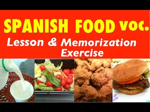Spanish Food Vocabulary-Learn Spanish Food Words-Food In Spanish