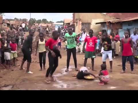 African kids dance to trap music