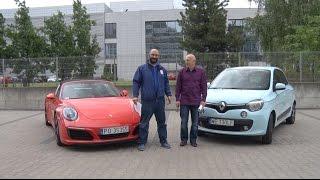Auta bez ściemy - Porsche 911 Targa kontra Renault Twingo Bizuu