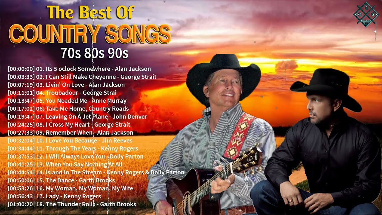 Don Williams, Jim Reeves, George Strait, Alan Jackson, Kenny Rogers - Best Country Music Playlist