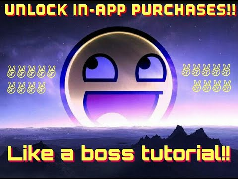 HOW TO UNLOCK IN-APP PURCHASES ON ANDROID(FREE)!!